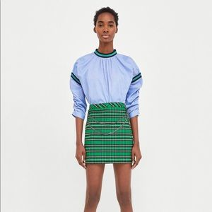 ZARA: Plaid Mini Skirt